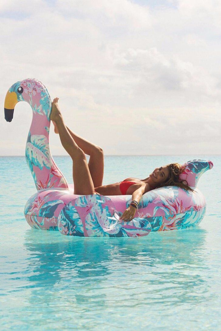 """Step Aside, Pineapples — This Floral Flamingo Is the """"It"""" Pool Float of Summer"""