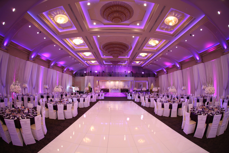Wedding Reception Purple Lighting Palladio Banquet Hall My
