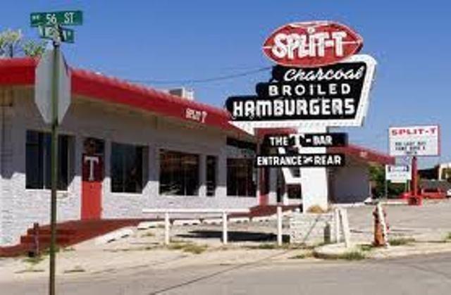 Split T Restaurant 56th Northwestern Blvd Was The Very Best Hamburger Spot In Okc Oklahoma The Original Split T Retro Signage Oklahoma History Old Signs