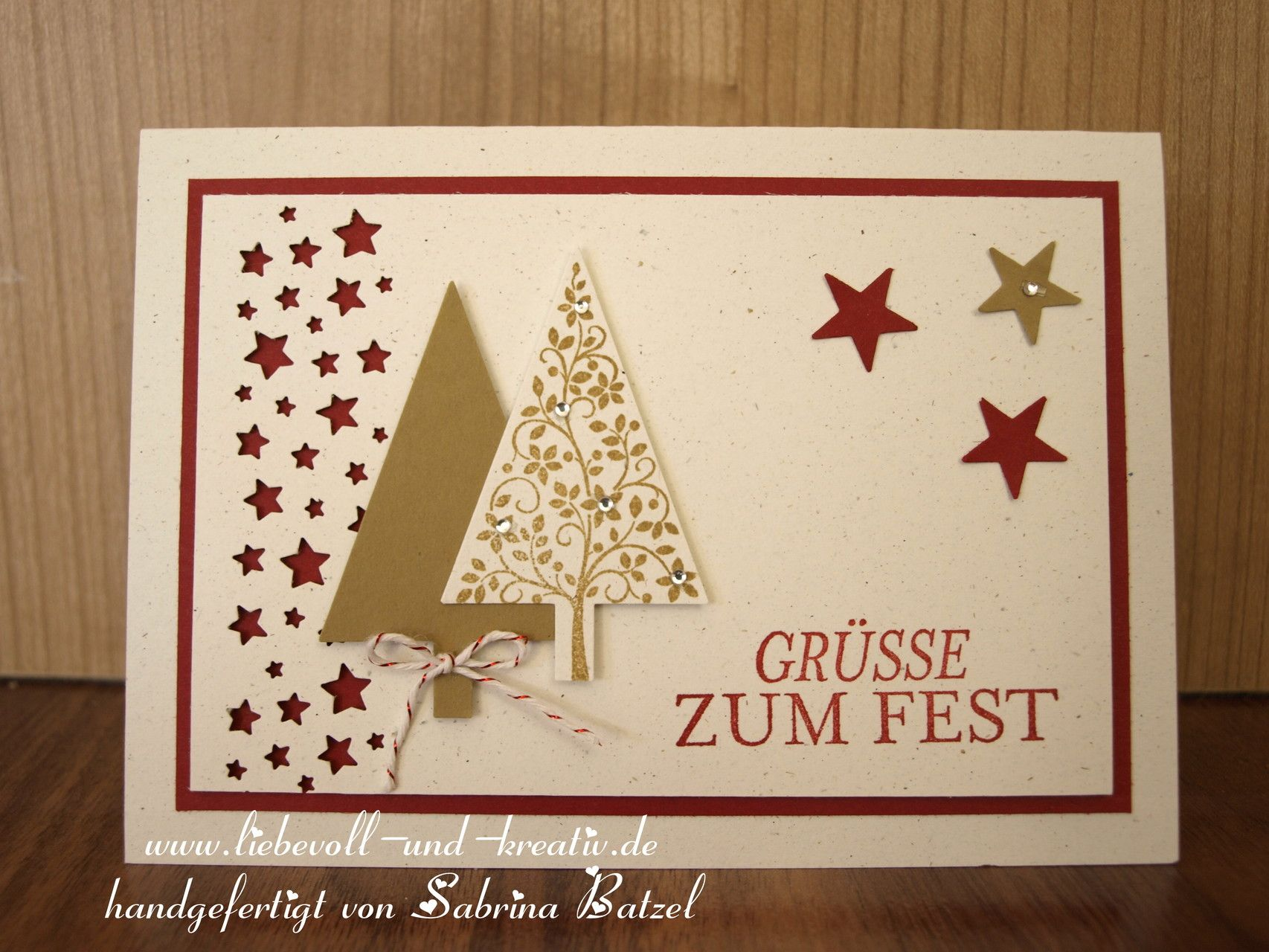 stampin 39 up karte weihnachten christbaum tannenbaum stern sternenkonfetti stern bord re. Black Bedroom Furniture Sets. Home Design Ideas