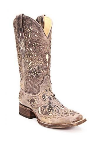Women S Boots Corral Boots Ld Brown Crater Bone Inlay