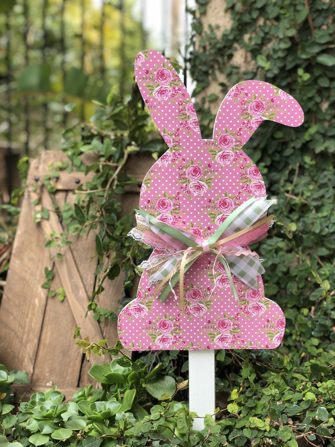 Adorable easter shabby chic bunny yard decoration in 2020