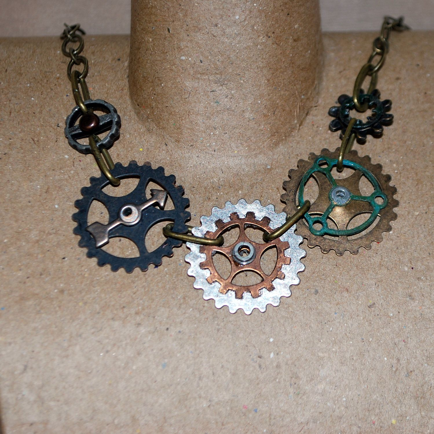 Is Steampunk Jewelry A Craft Or An Art: Patina Gears And Cogs Women's Or Mens Steampunk Style