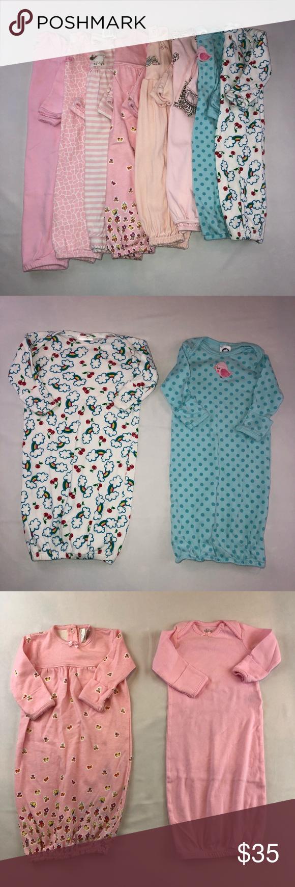 Baby girls size 0-3 Sleeper gowns Baby Girls Newborn 0-3 Months ...