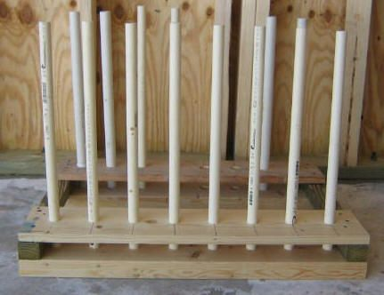 Boot rack - wood/pvc - keep those mud boots high and dry, and the