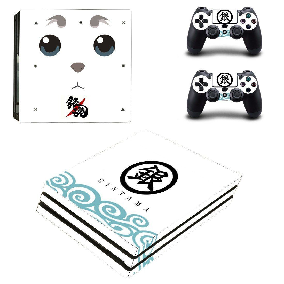Gintama Ps4 pro edition skin decal for console and controllers