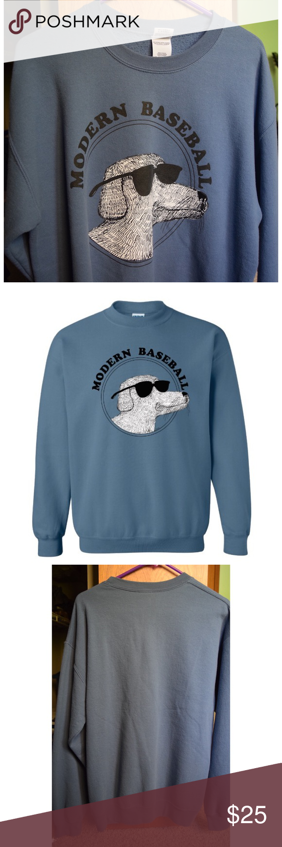 Modern Baseball Dog Crewneck Got It At The Modern Baseball The Front Bottoms Brand New Concert In Cleveland Haven Clothes Design Fashion Design Front Bottoms