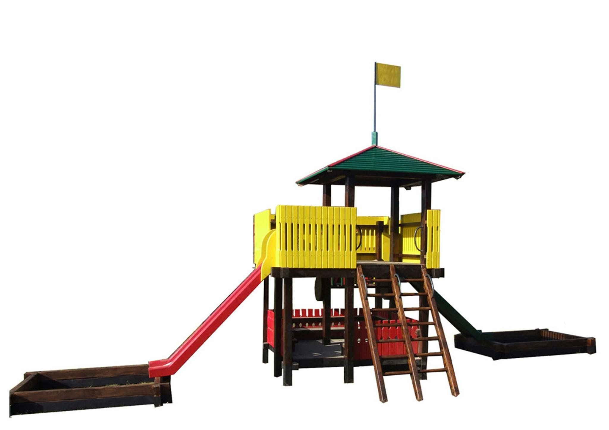 szr garden design kosjeric wooden product climbing fortress with slides