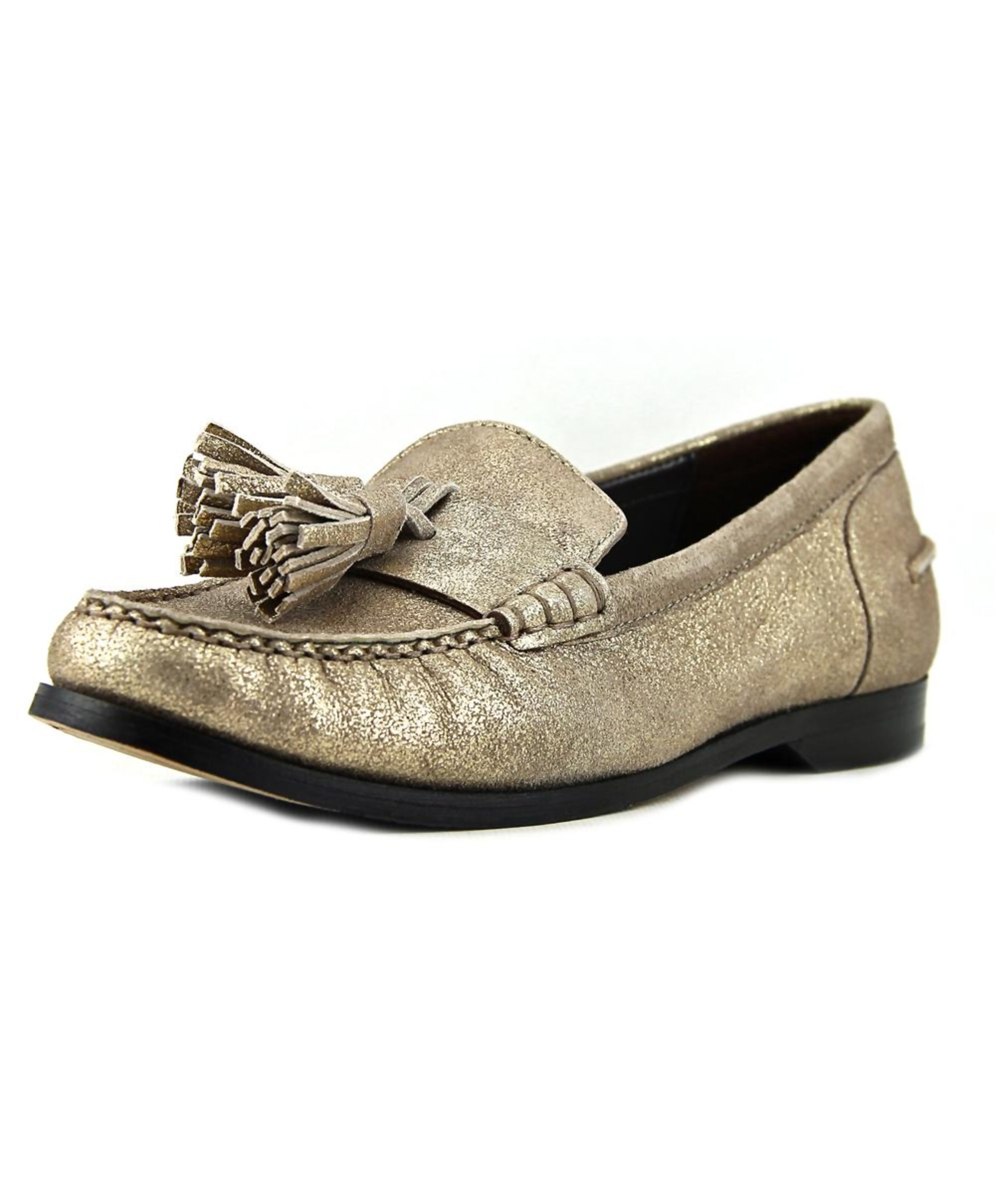 Womens Shoes Cole Haan Pinch Grand Tassel Gold Metallic