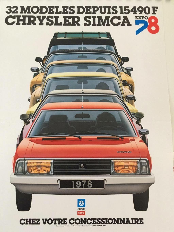 Épinglé Par Julian Sur Car Adverts And Posters Simca Voiture Voitures Anciennes