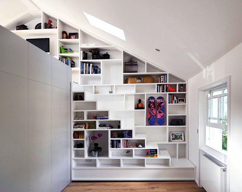 Shelves And Stairs Loft Spaces House Design Loft Design