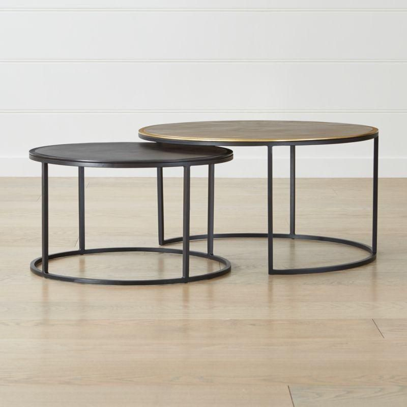 Knurl Nesting Coffee Tables Set Of Two Crate And Barrel
