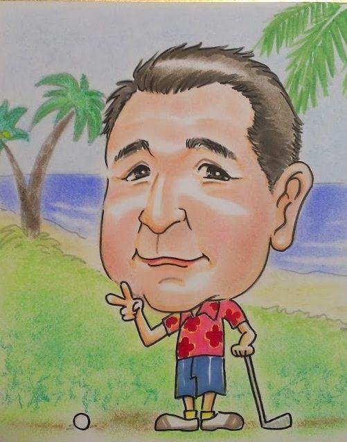2014/02/11 ハワイで再びゴルフ!を夢見る男性。夢が叶うといいな。