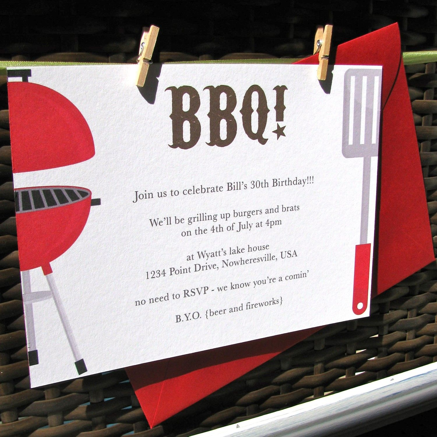 baby shower bbq invitation templates%0A  th of July BBQ party invitations  rehearsal dinner invitations  couple u    s shower  invitations on SALE