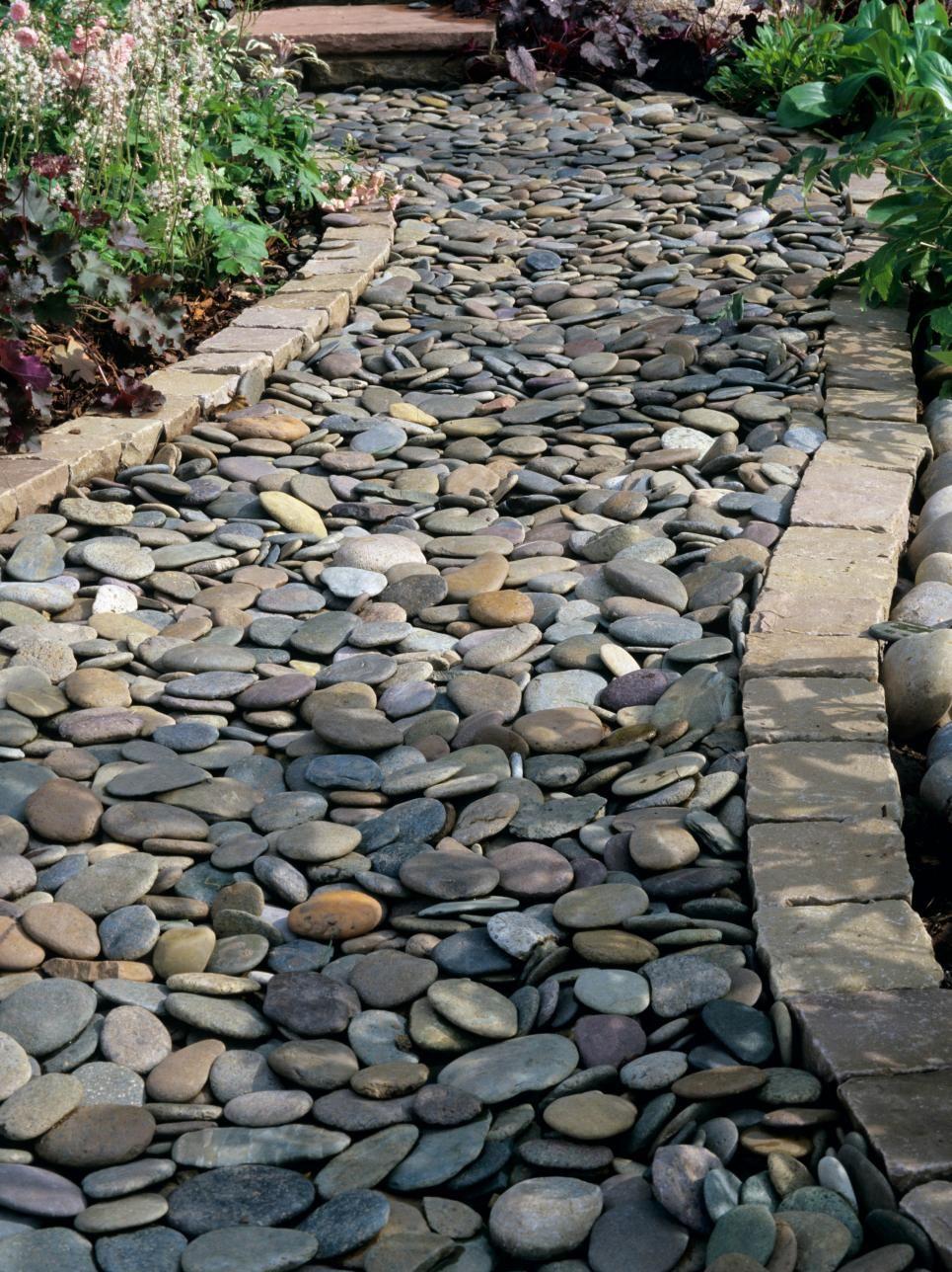 interesting smooth rock pathway