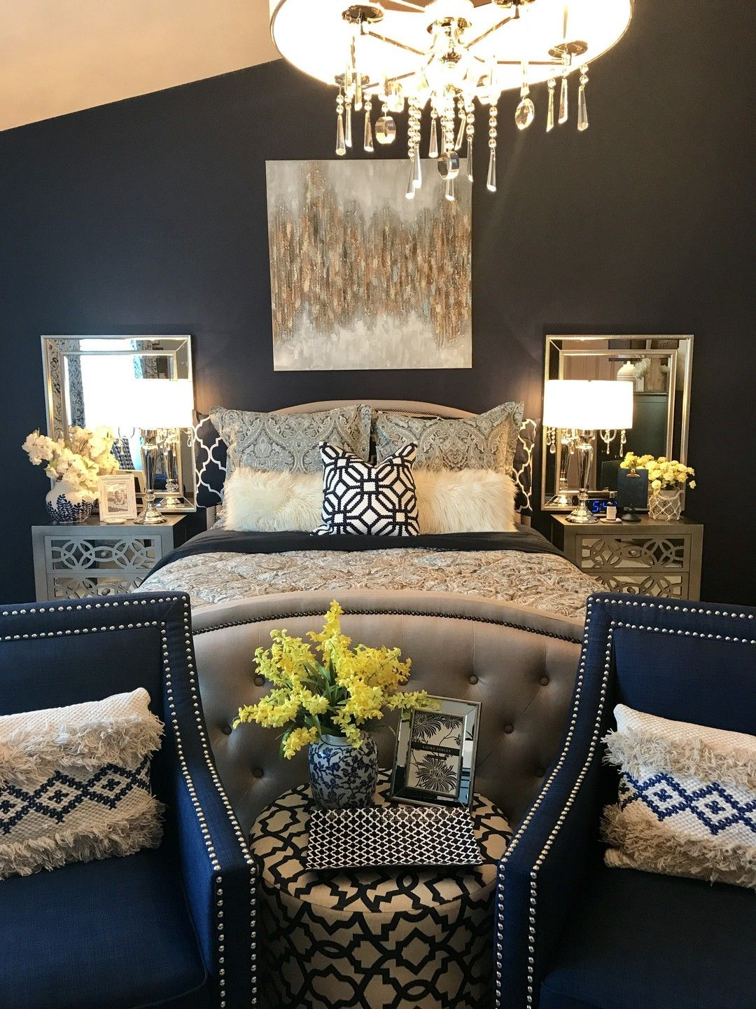 Navy blue interior doors inspirational photos https onechitecture also farmhouse master bedroom decorating ideas in for the home rh pinterest