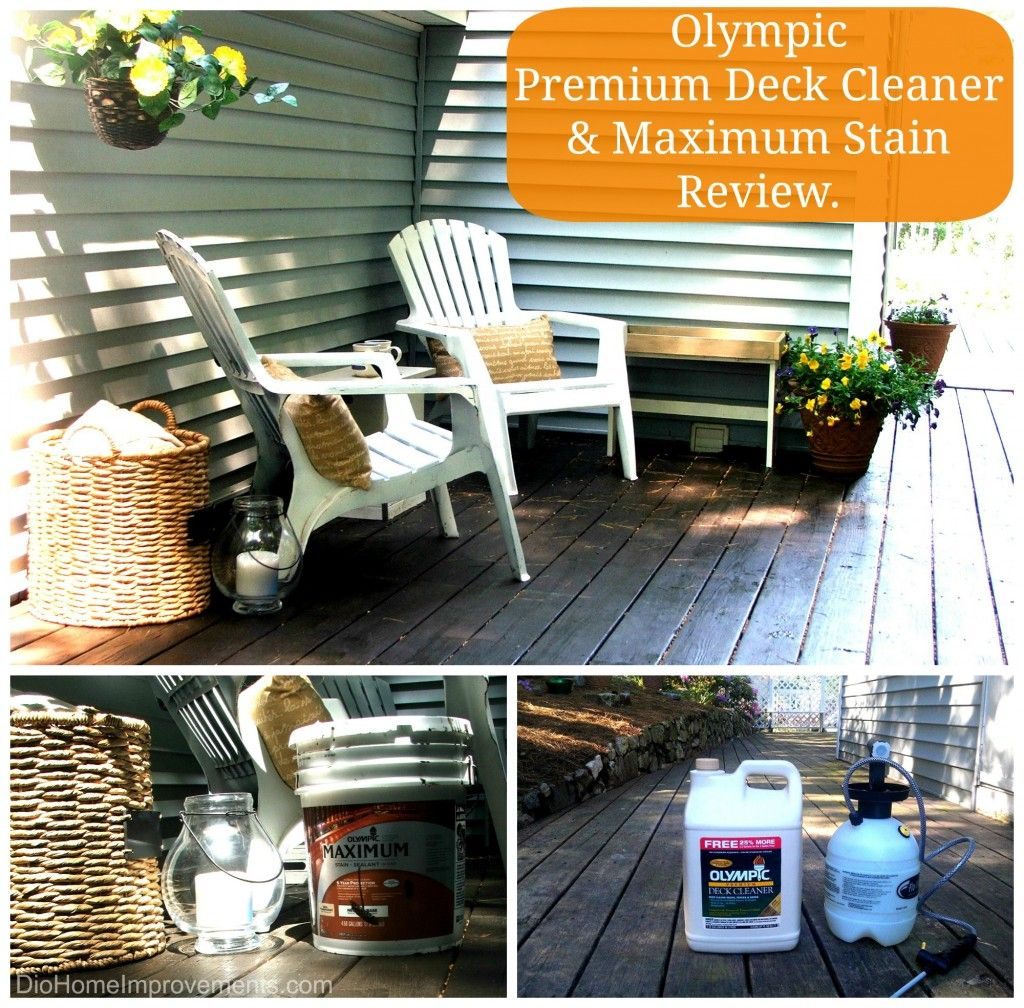 Diy Deck Cleaner How To Clean And Stain Your Nasty Deck Olympic Premium