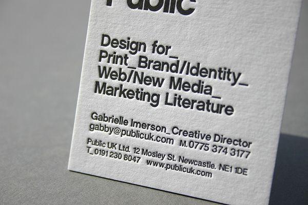 Black White Letterpress Business Card By Blush Via Behance Letterpress Business Cards Letterpress Business Card Design Letterpress Printing