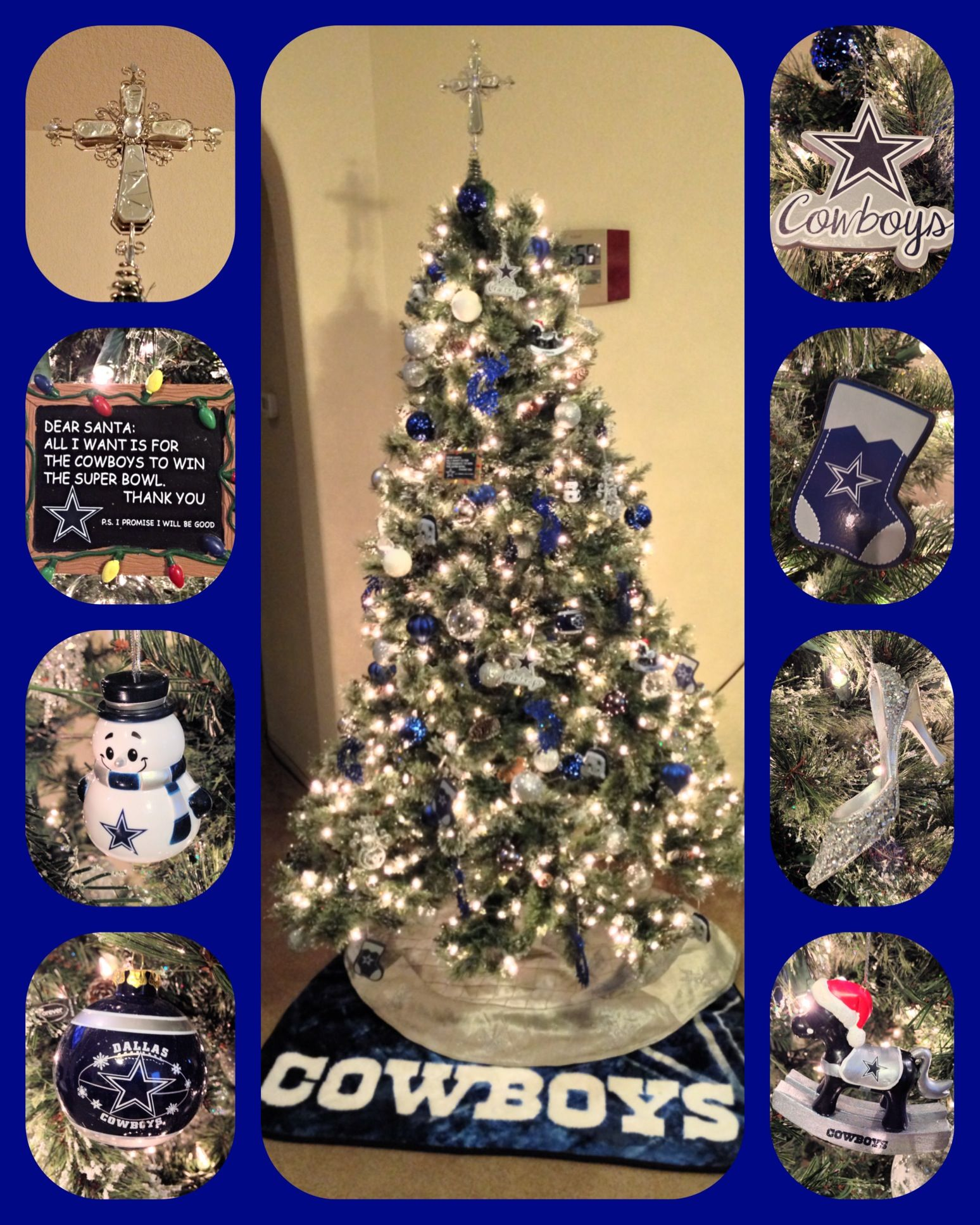 Our Dallas Cowboys Christmas tree!!! | Dallas cowboys ...