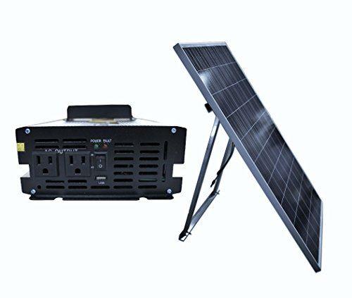 Amazon.com : Ensupra SolarGen1KW 1000-watt Solar Power Generator with  240-watt Solar Panel Charger : Patio, La…   Solar panel charger, Solar  panels, Power generator