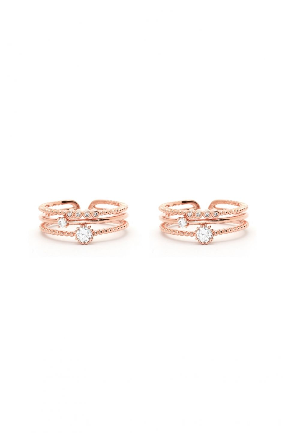 Rue Gembon Jeniece Rose Gold Ring Set Stacks On Stacks Pinterest