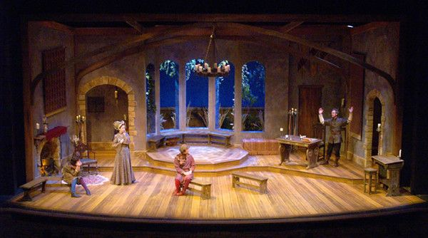 The Lady's Not for Burning. Peninsula Players. Scenic Design by Jack Magaw.