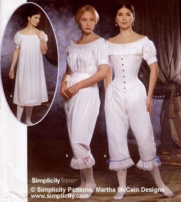 Women's Plus Size Civil War, Victorian, Steampunk Undergarments ...