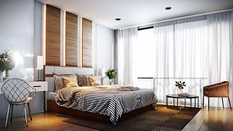 A Beautiful Render Of A Simple And Stylish Bedroom Interior