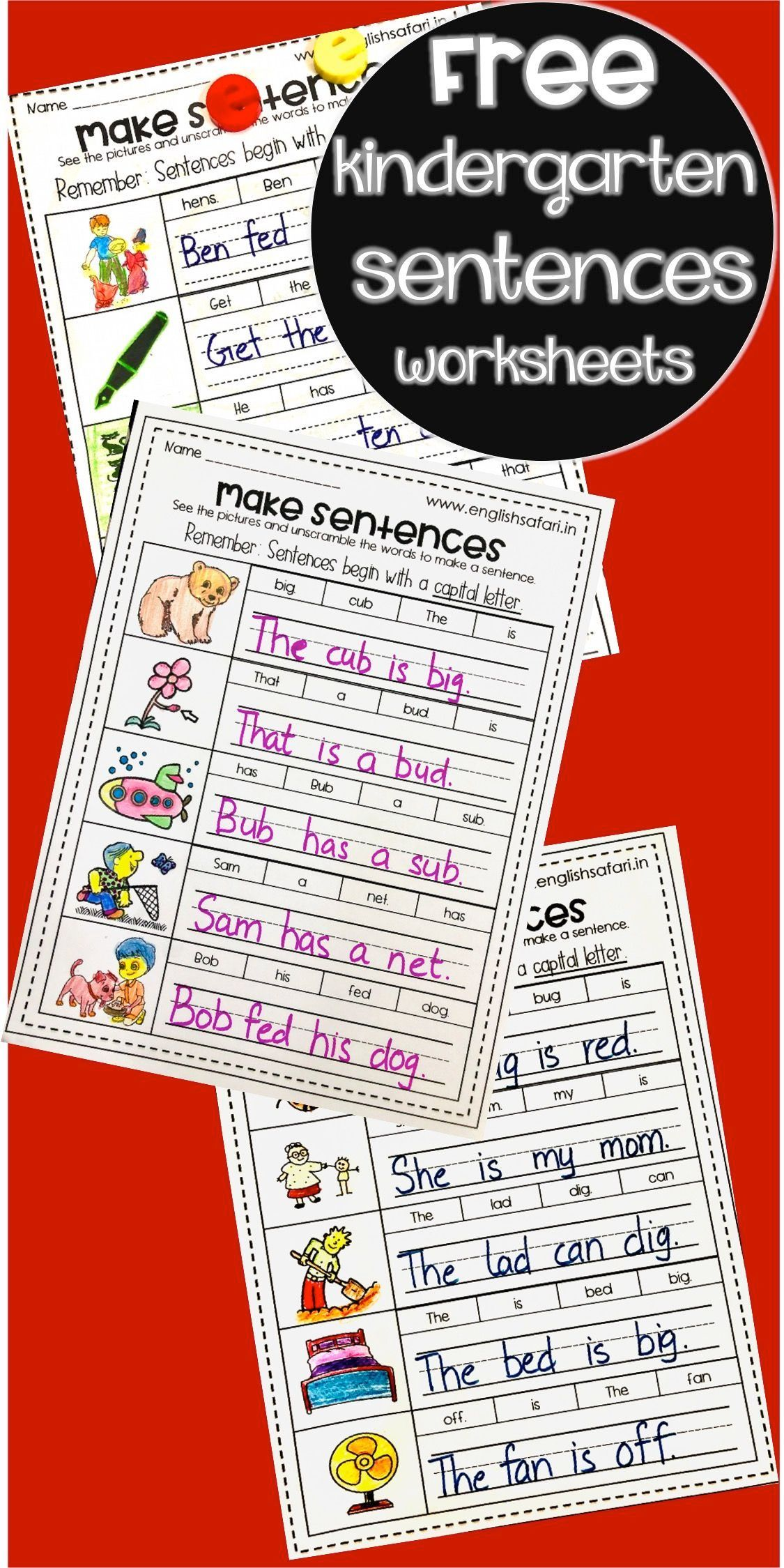 Make Sentences Worksheets Www Worksheetsenglish Com In 2021 Cvc Words Teaching Sight Words Three Letter Words [ 2249 x 1125 Pixel ]