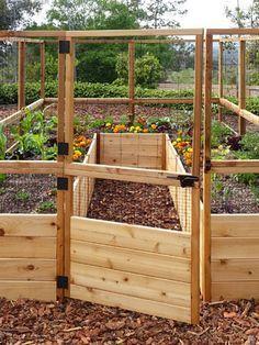8' Raised Cedar Garden Bed with Deer Fence #garden design Outdoor Living Raise...#bed #cedar #deer #design #fence #garden #living #outdoor #raise #raised