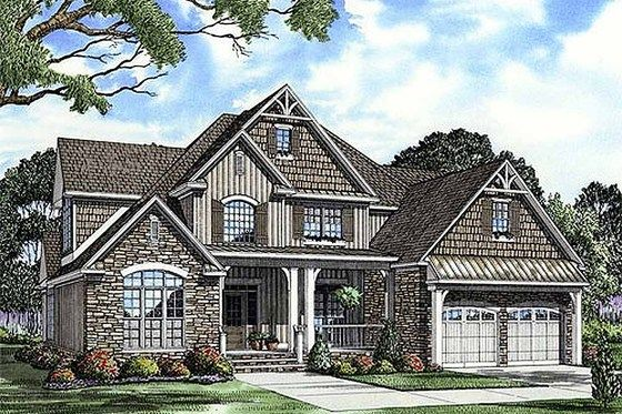 Craftsman Style House Plan 4 Beds 3 Baths 2755 Sq Ft Plan 17 2133 Country Style House Plans Craftsman Style House Plans Country House Plans