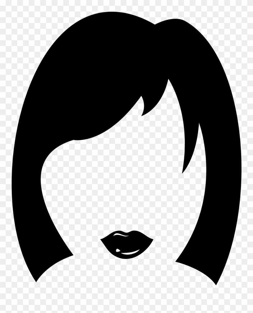 Download Hd Haircut Clipart Woman Hair Women S Hair Icon Png Download And Use The Free Clipart For Your Creative In 2020 Hair Icon Free Clip Art Navratri Wallpaper