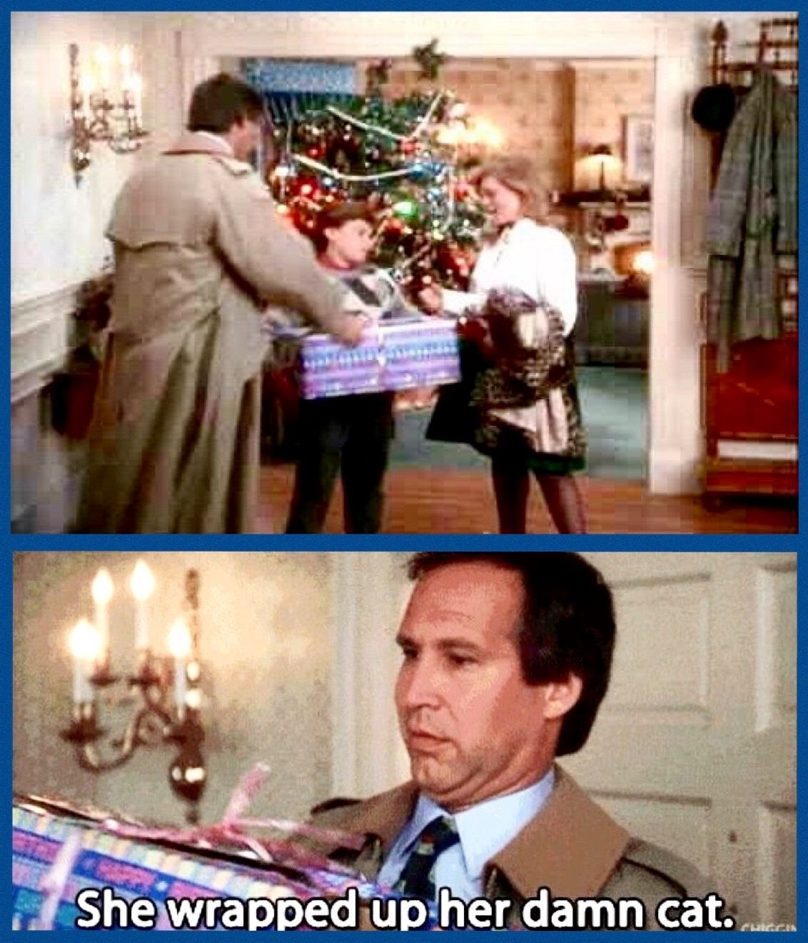 Christmas Vacation 1989 Russ Dad This Box Is Meowing Clark