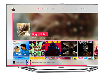 """Check out new work on my @Behance portfolio: """"Daily UI #025 - TV App (Apple Music for XBOX One)"""" http://be.net/gallery/45663363/Daily-UI-025-TV-App-(Apple-Music-for-XBOX-One)"""