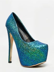 7eea4d7c297 Details about NEW PRIVILEGED Women Hot Mermaid Texture High Heel ...
