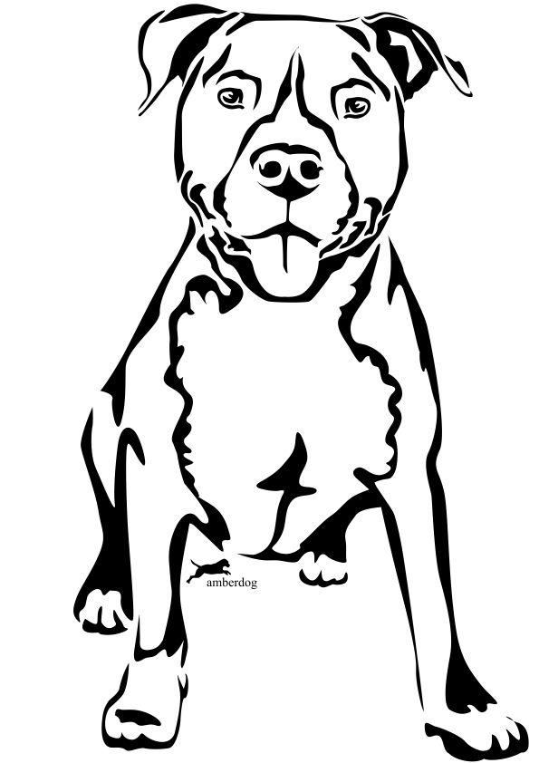 Imagen Publicada Por Flecha1990 Animal Line Drawings Pitbull Drawing Drawings