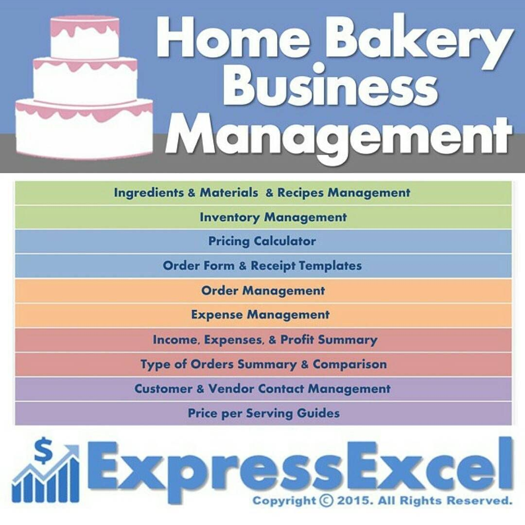 The Home Bakery Business Management Excel Spreadsheet Download Includes Cake Serving Guide Home Bakery Business Cake Pricing Calculator Business Management