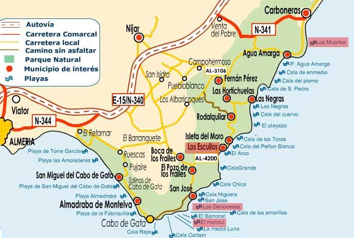 Cabo De Gata Mapa.Cabo De Gata Het Decor Van Siergo Leone Almeria