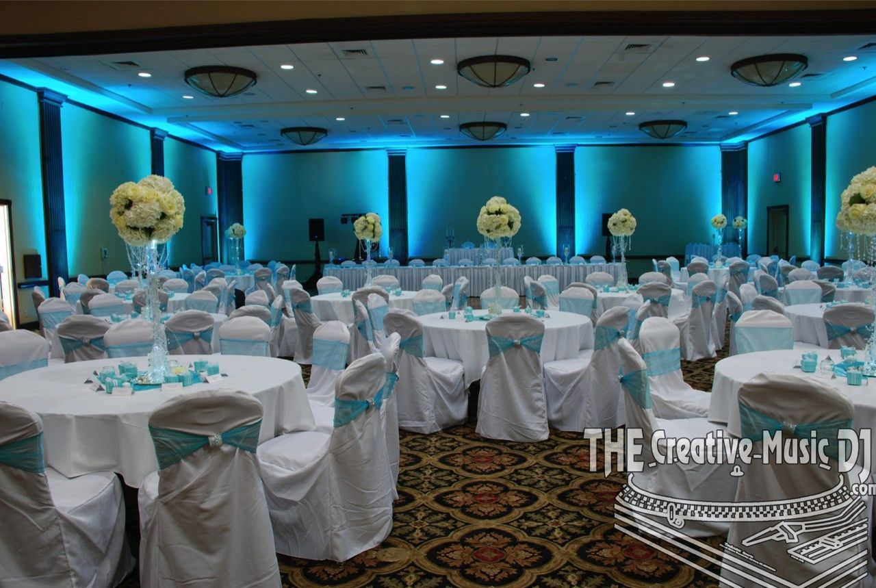 Crowne Plaza San Go Weddings Tiffany Blue Uplighting