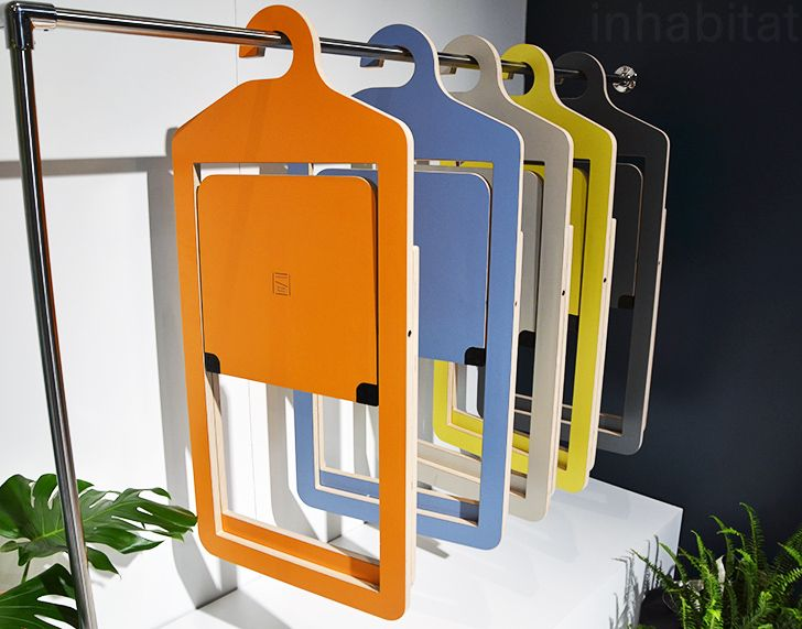 furniture for hanging clothes. malouinu0027s amazing umbra shift hanging chairs are stored like clothes furniture for n