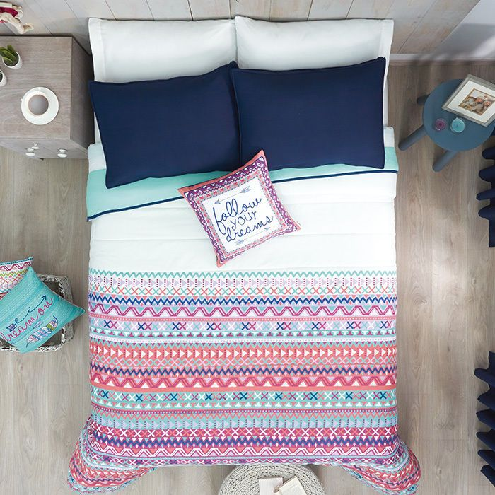 Girls and Teens Aztec Twin and Full Size Comforter Set