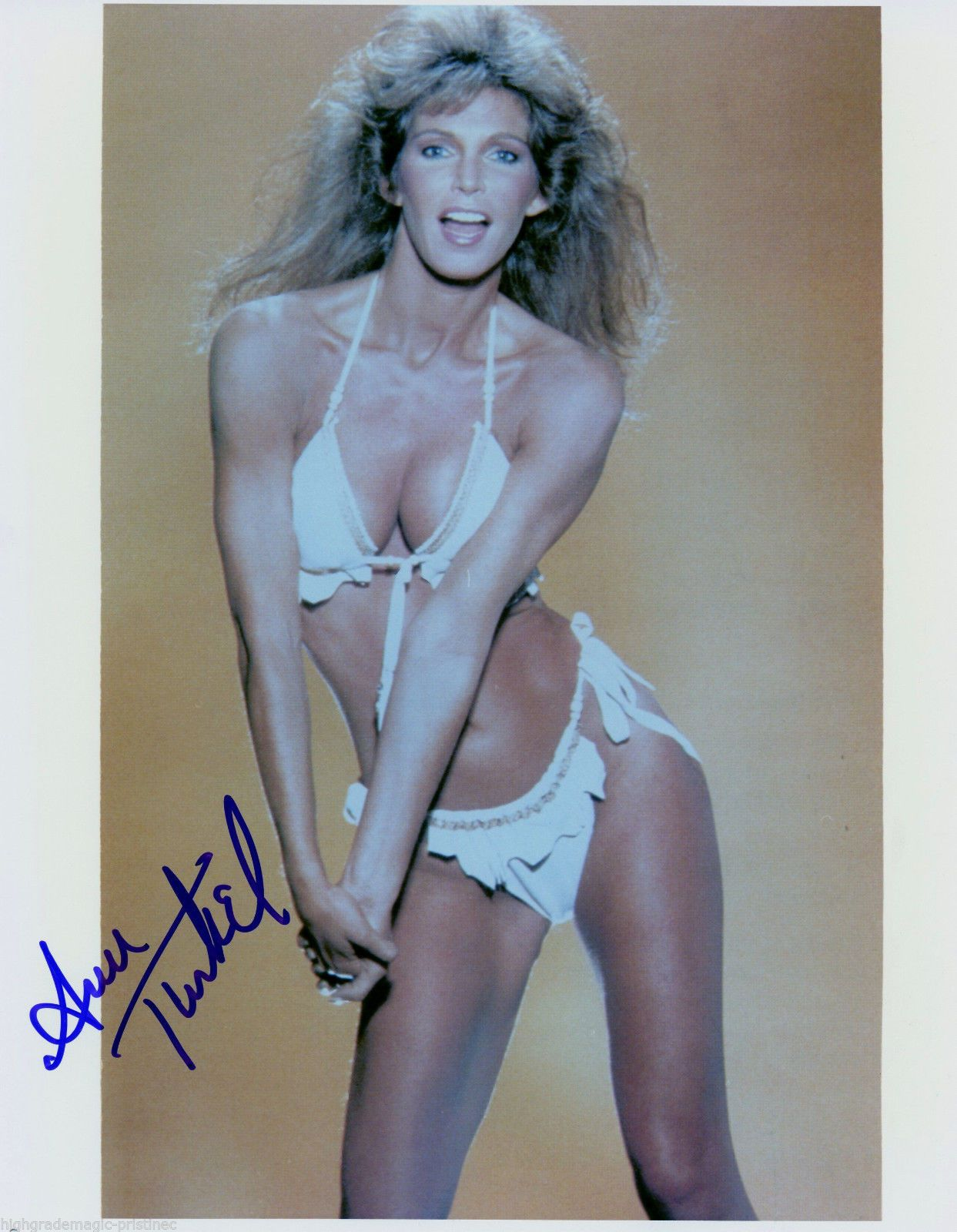 da25d9dd0d31b Ann Turkel Autographed Signed 8x10 Color Press Photo Sexy in White Bikini