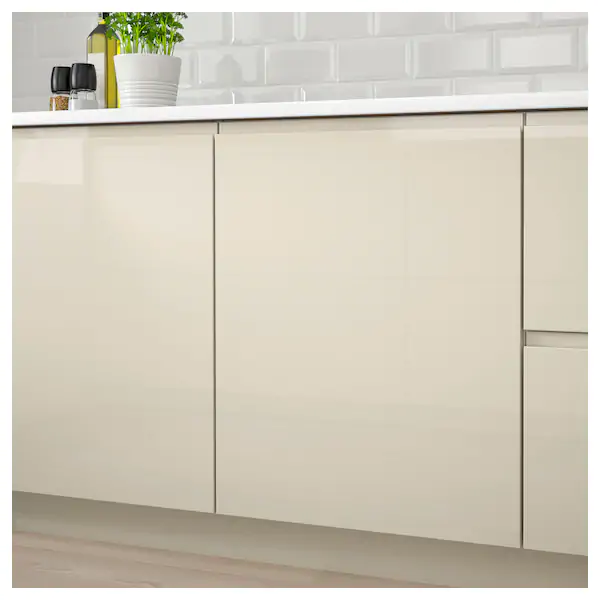 Voxtorp Door High Gloss Light Beige 15x20 Ikea In 2021 Luxury Kitchens High Gloss White Scandinavian Kitchen