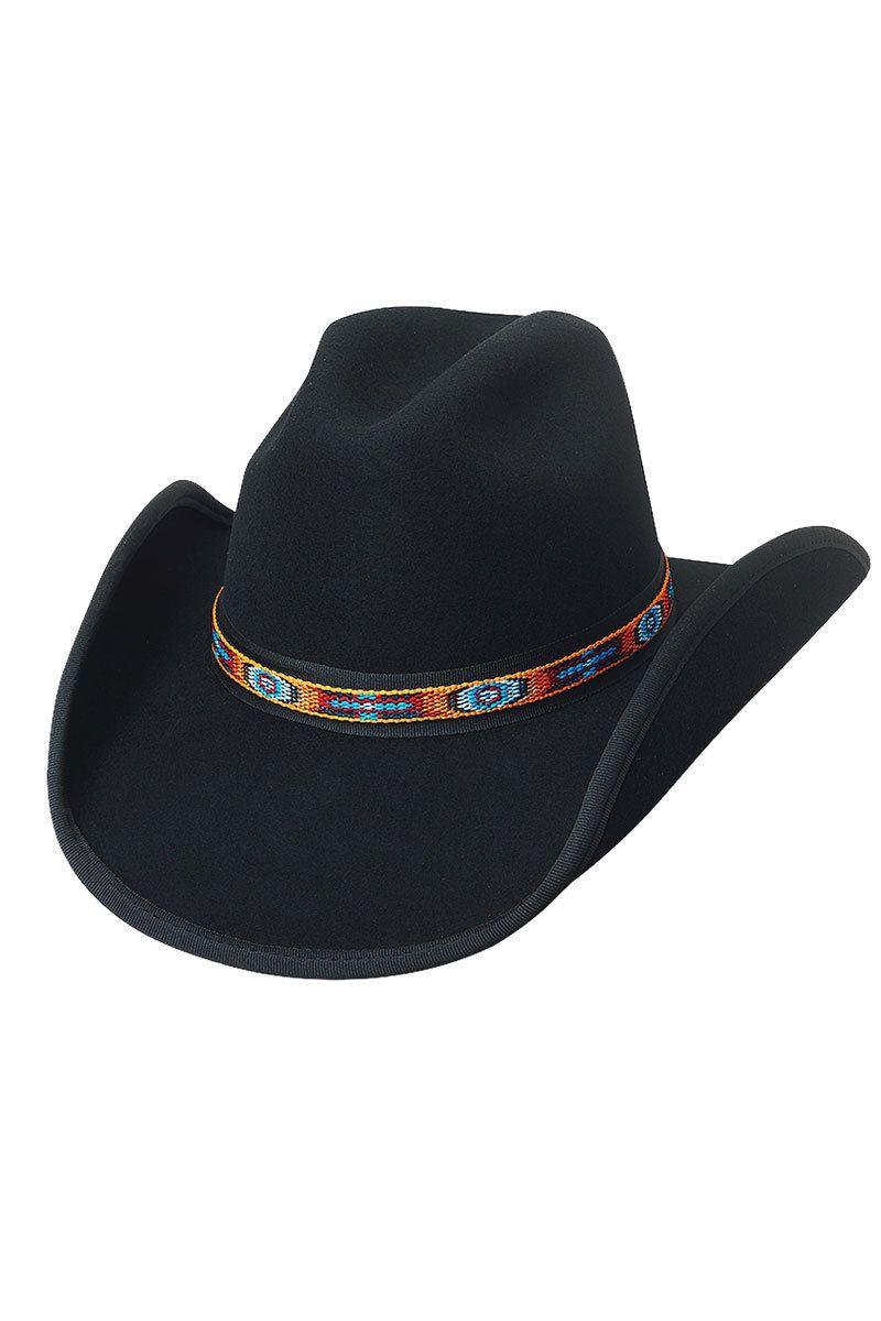 255092b63f684 Bullhide Apache Pass Black Wool Cowboy Hat