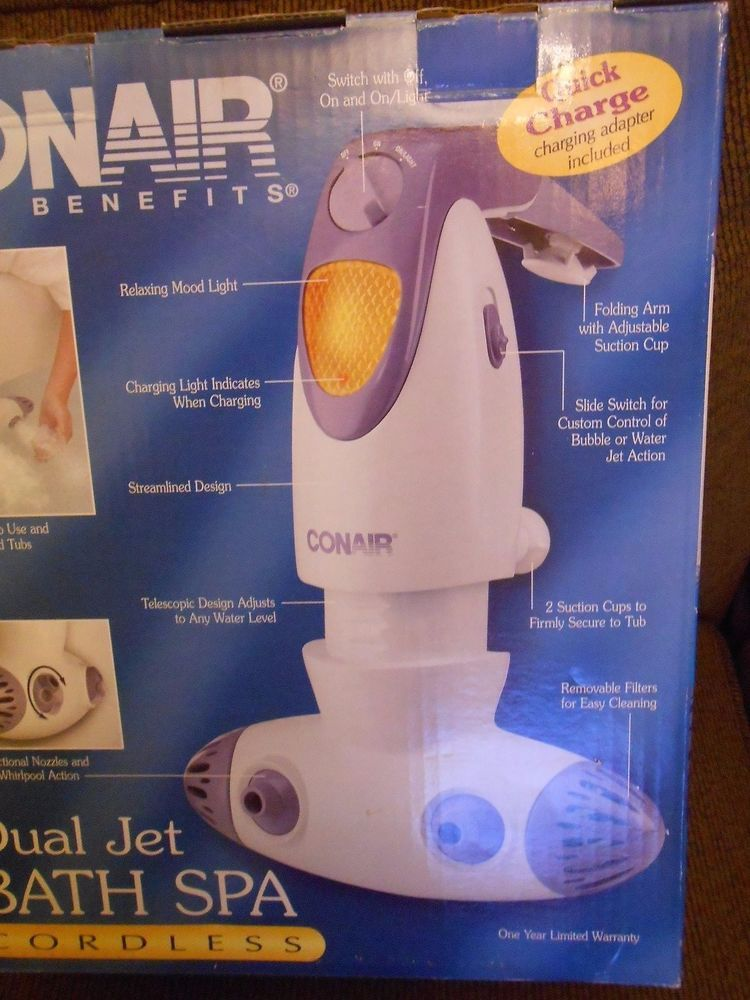 Conair Body Benefits BTS4 Powerful Water Dual Jet Action Cordless ...