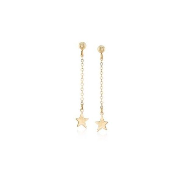 Ross-Simons Italian 14kt Yellow Gold Linear Star Drop Earrings. 1... ($100) ❤ liked on Polyvore featuring jewelry, earrings, ross simons jewelry, long drop earrings, ross simons earrings, drop earrings and yellow gold jewelry