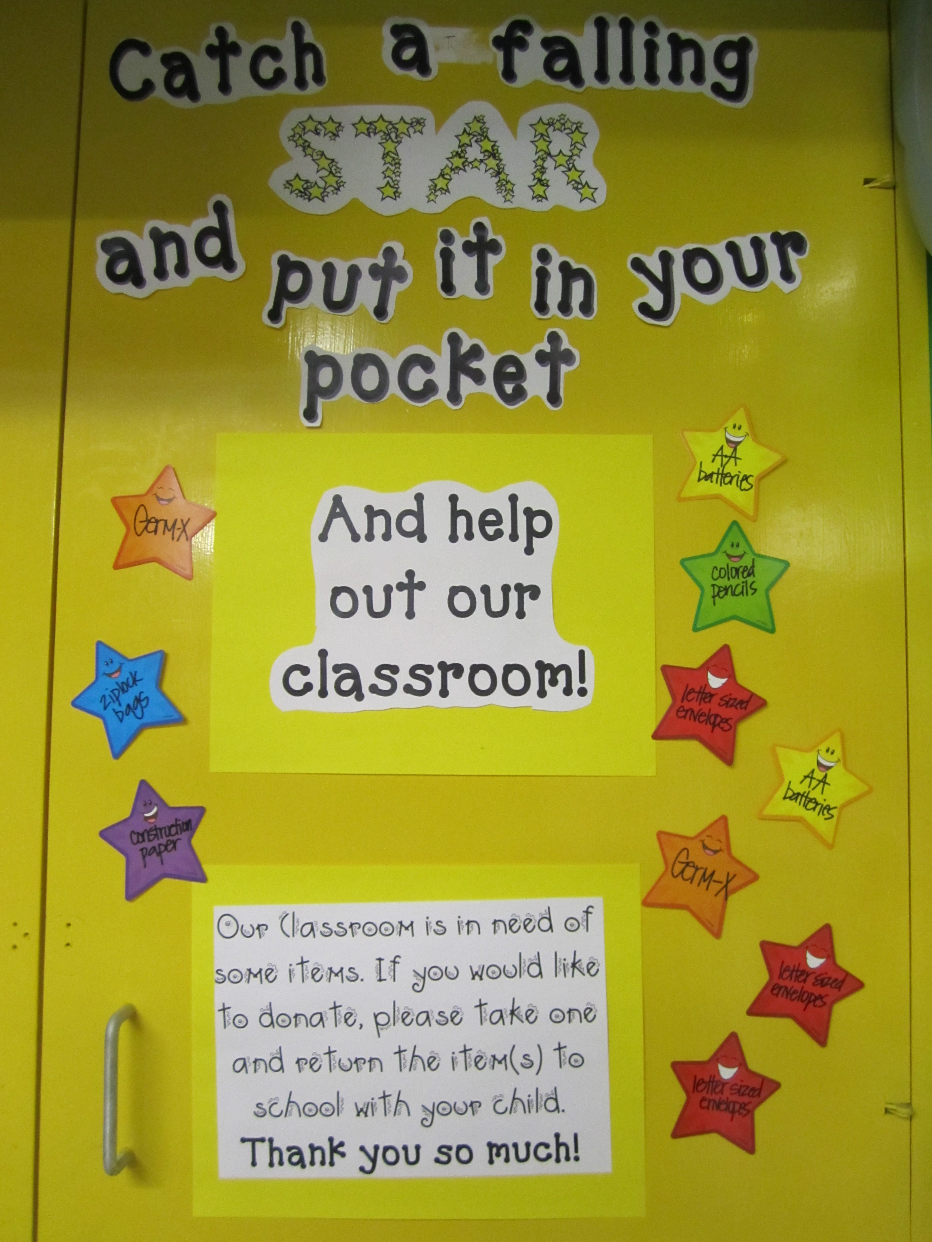 Classroom Theme Ideas List ~ Hollywood space themed classroom wish list posted on a