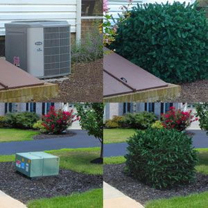 Faux Shrub Utility Cover Backyard Landscaping Fake Plants