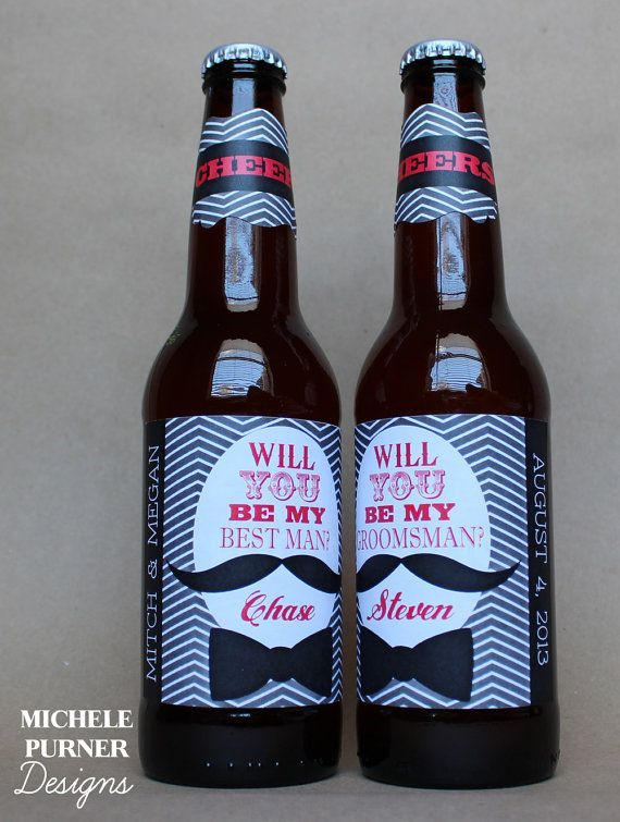 Groomsman Gift Whiskey Label Best Man Will You Be My Thank Gifts For Wedding Asking Groomsmen Liquor Labels