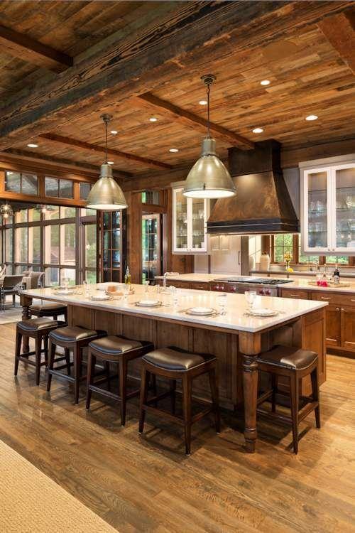 80 ideas de cocinas rústicas modernas, vintage, pequeñas, grandes - cocinas grandes de lujo